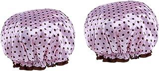 Kesoto 2個 シャワーキャップ バス用 シャワー 温泉 女性 防水 多色選べる - ピンク