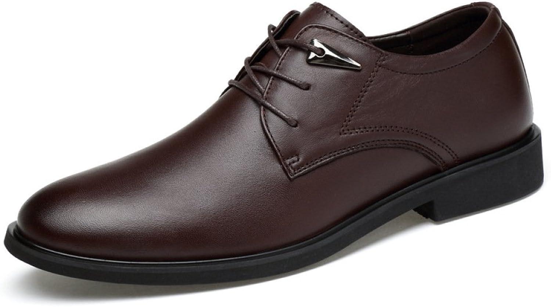 WDYY Herren Leder Casual Männer Geschäft England Leder Leder Leder Schuhe Kleid Spitzen Schuhe  d185ae