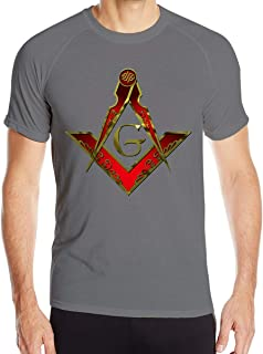 VANMASS Mens Freemason Square and Compass Red Long Sleeve Pullover Hoodie Sweatshirts