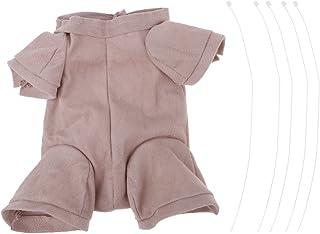 SM SunniMix 18inch Reborn Supplies Body De Tela para 3/4 Brazo Full Leg Baby Doll DIY Making