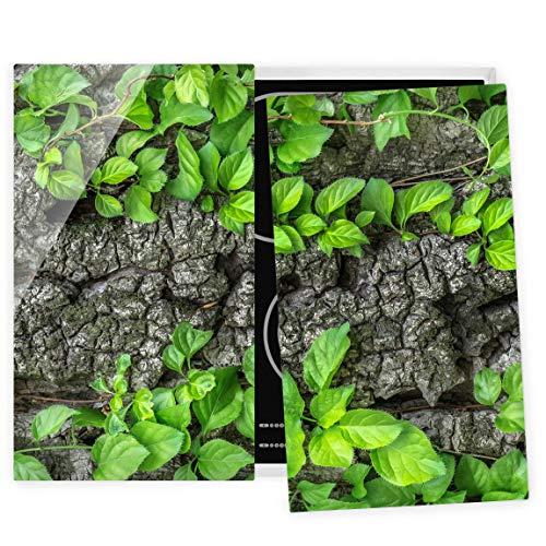 Bilderwelten Couvre Plaque de Cuisson à Induction vitrocéramique - Ivy Tree Bark 52 x 60 cm