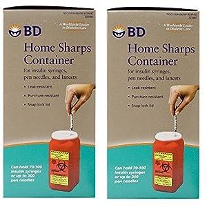 buy  BD Home Sharps Container 1.4 qt/Each – 2 ... Diabetes Care