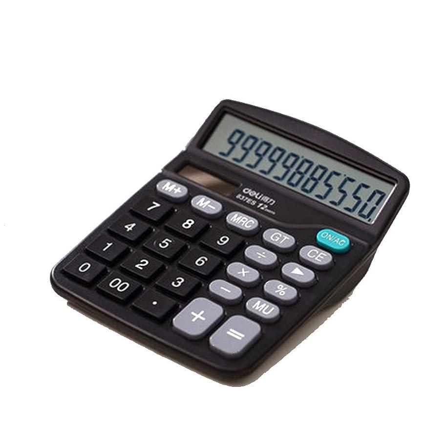 12桁電卓 カリキュレーター 電子計算機 事務用品 オフィス 文房具 デスク小物