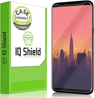 IQShield Screen Protector Compatible with Samsung Galaxy S8 Plus (2-Pack)(Case Friendly)(Not Glass) Anti-Bubble Clear Film