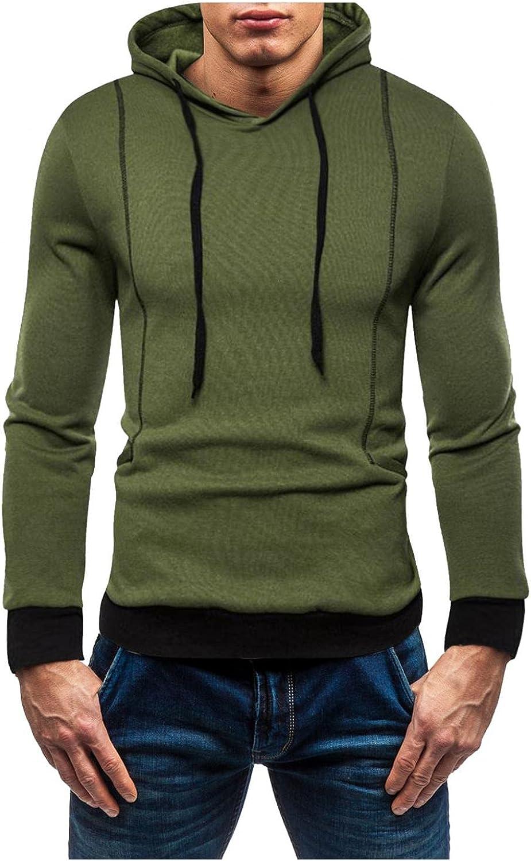 Men's Casual Pullover Hoodies Long Sleeve Hooded Sweatshirts Fashion Novelty Sports Crewneck Slim Tops Shirts College