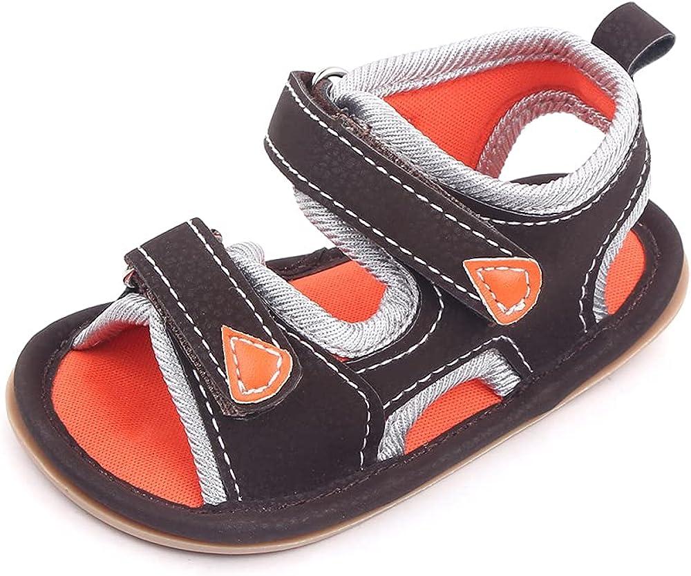 Kenthy Infant Baby Boys Girls Sandals Athletic Anti-slip Soft Sole Newborn Summer Beach Slippers First Walker Crib Shoes