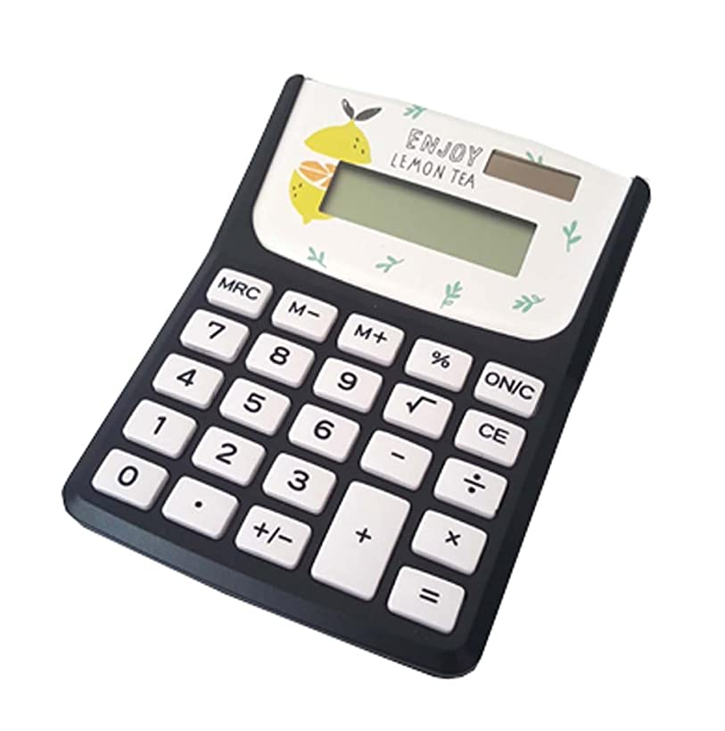 哲学者日食赤かわいい電卓スタイリッシュなシンプルなソーラー電卓、ブラックカラー