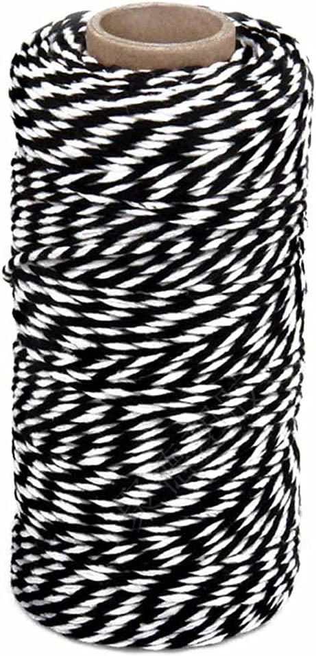 328 Today's only Feet Black service and White Cotton Twine 2mm Bakers Perfect