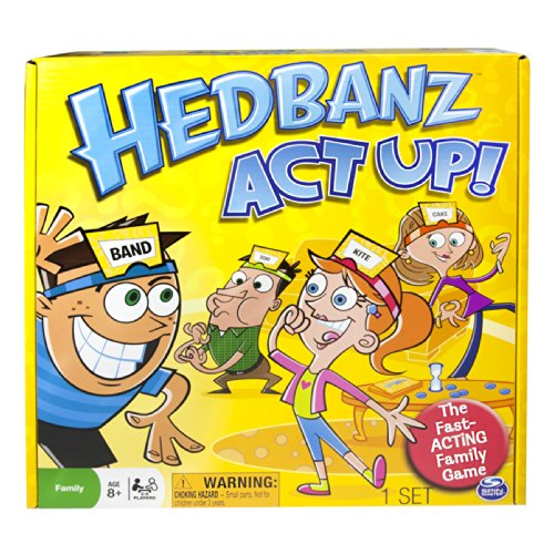 Spin Master Hedbanz Act Up Game, Fast-acting family board game based on original Hedbanz by Illuminations