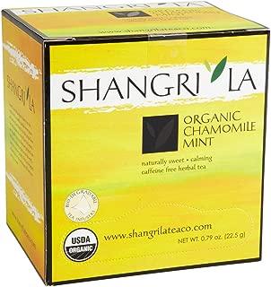 Shangri La Tea Company Organic Tea Sachet, Chamomile Mint, 15 Count