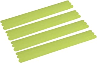 Non-Slip Safety Shower Treads,Glow in The Dark Tape 12pcs 15 inch Luminous Anti-Slip Strips Adhesive for Bathtubs Showers Stairs and Floors