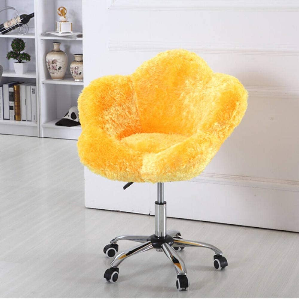 HJFGSAK Chaise Chaise d'ordinateur Ménage De Levage Et Rotatif en Peluche Chaise De Mode Coréen Manucure Boutique Chaud Mini Canapé Chaise, A18 A21
