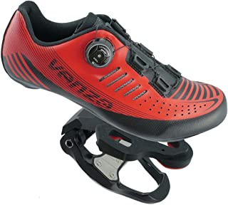 Venzo Road Bike Compatible with Shimano SPD SPD SL Look Cycling Bicycle Shoes & Pedals