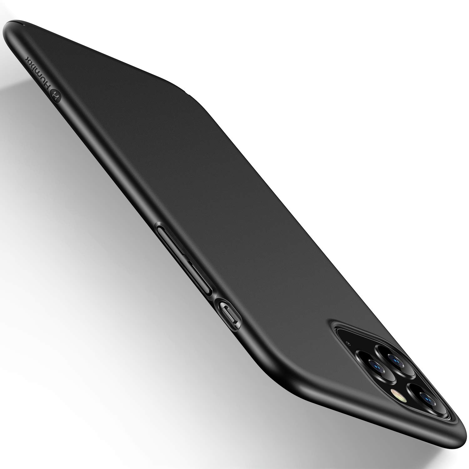 humixx Ultra Thin iPhone 11 Pro Max Case, Slim Hard Plastic PC Fit Full Protective Cover[Scratch Resistant] with Matte Finish Coating Skin Supports Wireless Charging Case-Black