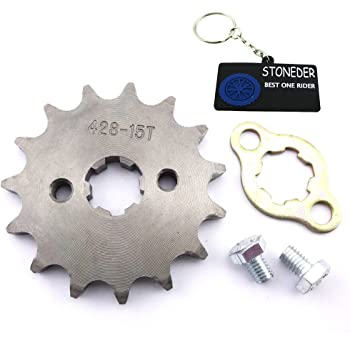 Stoneder 428 14 Zähne 17 Mm Kettenrad Für 50 Cc 70 Cc 90 Cc 110 Cc 125 Cc 140 Cc 150 Cc 160 Cc Motor Atv Quad Pit Dirt Trail Bike Auto