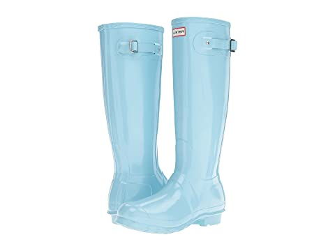Hunter Women's Original Tall Gloss Rain Boots (Pale Mint)