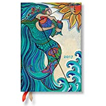 Paperblanks Dayplanners 2017 Ocean Song Mini Day-at-a-Time 12Months DE3331-8 英語版 正規輸入品