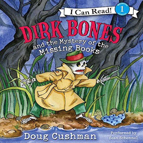 Dirk Bones and the Mystery of the Missing Books audiobook cover art