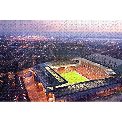 Liverpool: Football Stadium Poster 1000 Teile Puzzle für Erwachsene Geschicklichkeitsspiel für die Ganze Familie, Farbenfrohes Legespiel, Erwachsenenpuzzle ab 8 Jahren 75x50cm