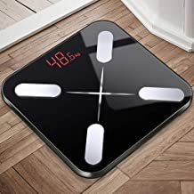 NYDZDM Electronic Scale Intelligent Fat Scale Household Adult Small and Accurate Female Small Body Weight Loss Electronic Weight Body Fat Scale (Color : Black)