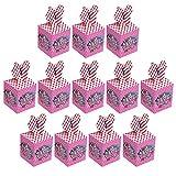 Qemsele Cajas De Fiesta Bolsas de cumpleaños, 12Pcs Regalo Cajas, Cajas de Caramelo Tema Reutilizable Bolsas de Fiesta Bolsas para cumpleaños niños la Fiesta favorece la Bolsa Bolsas Fiesta (LOL)