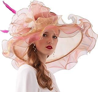 Xiang Ru Sun Hat Derby Church Dress Organza Royal Ascot Party British Wedding Fascinators for Women