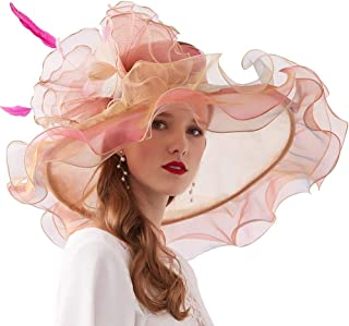 Xiang Ru Sun Hat Derby Church Dress Organza Royal Ascot Party British Wedding Fascinators for Women