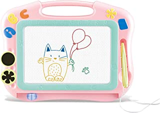 Magnetic Drawing Board for Kids & Toddlers,Purewind Magna Doodles Sketch Erasable Pad for Writing Kids Toddler Boy Girl Painting Learning Birthday Gift Present, Travel Size (Pink)