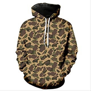 FFDFZD Hoodies 3D Funny Printed Camouflage Hoodie Drawstring Men's Sweatshirts Jacket Long Sleeve Hooded with Pockets Coats Man's Tops S Yellow