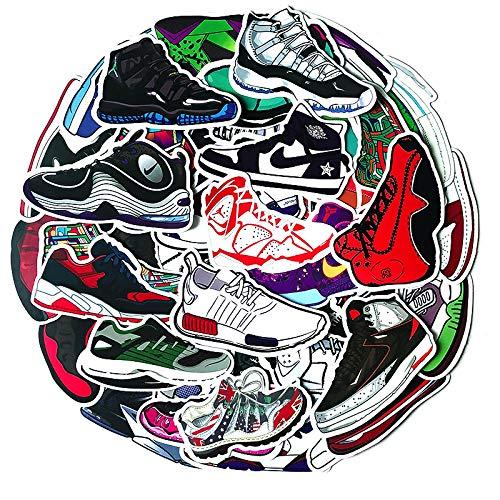 WUWEI Flying Man Jordan, Zapatos Deportivos de Baloncesto, Equipaje, Maleta, portátil, Marca, Personalidad, Pegatina, 100 Uds.