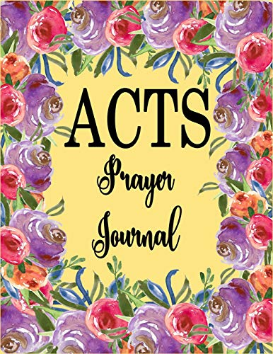 ACTS Prayer Journal - Black & White: 120 A.C.TS. Pages, 8.5x11 Prayer Journal For Women And Teen Girls, Christian Notebooks For Women (ACTS Journals)