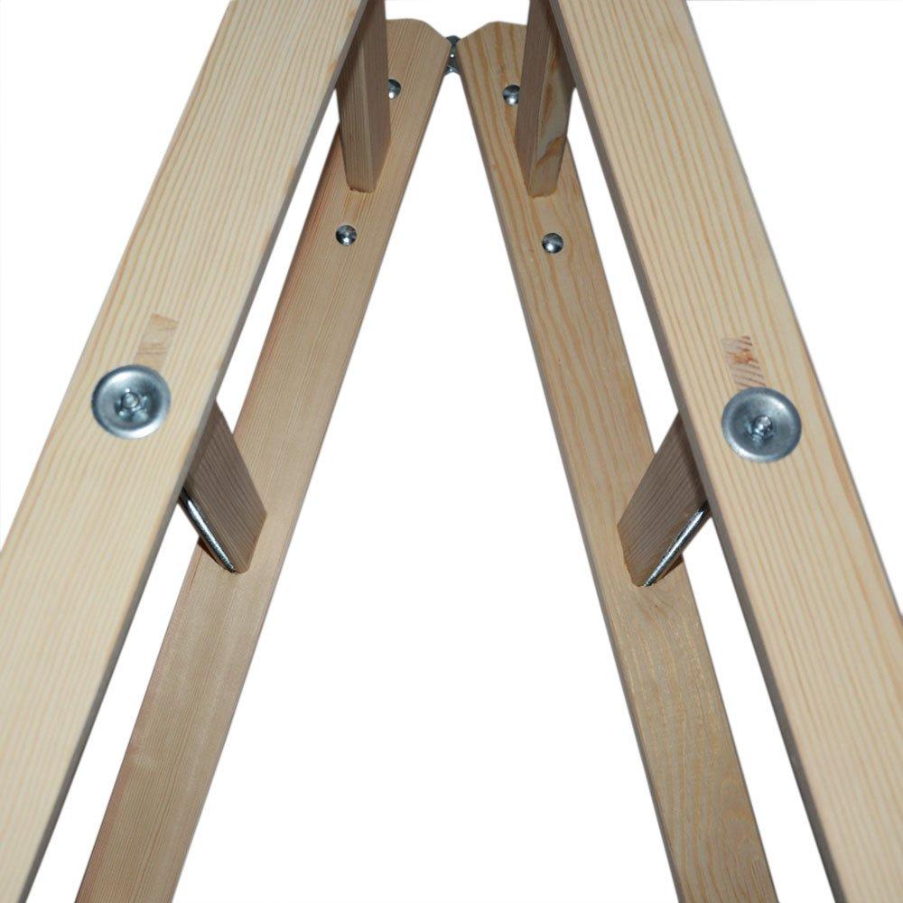 Systafex® Escalera, escalera de tijera doble, escalera de pintor, escalera de electricista, escalera de tijeras, escalera de madera tamaño máximo de 150 kg: Amazon.es: Bricolaje y herramientas