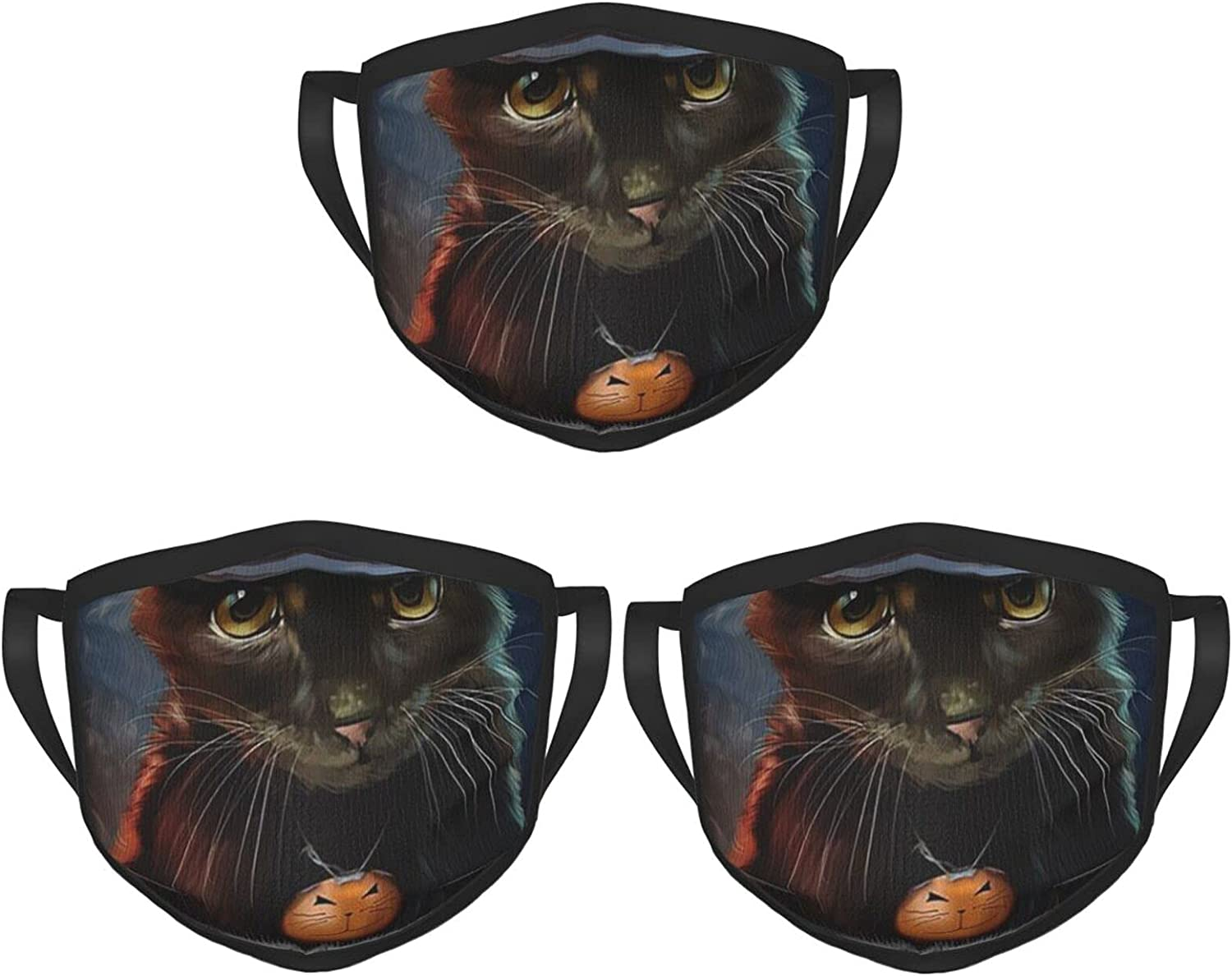 Balaclava Earmuffs Black Cat Pumpkin Lantern Witch Hat Face Mouth Cover Mask Reusable Windproof Scarf Towel Cover Headwrap