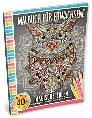 Malbuch für Erwachsene: Magische Eulen (Kleestern, A4 Format, 40+ Motive) (A4 Malbuch für Erwachsene, Band 2)