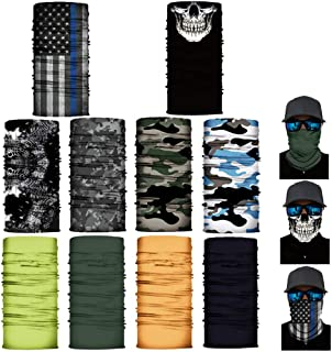 10 Pack of Sun UV Dust Protection Windproof Bandana Face Clothing Neck Gaiter Cover Magic Scarf Balaclava Scarf