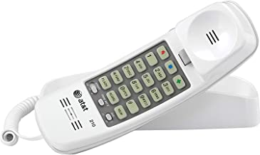 AT&T 210WH Corded TrimLine Phone,Lighted Keypad, White