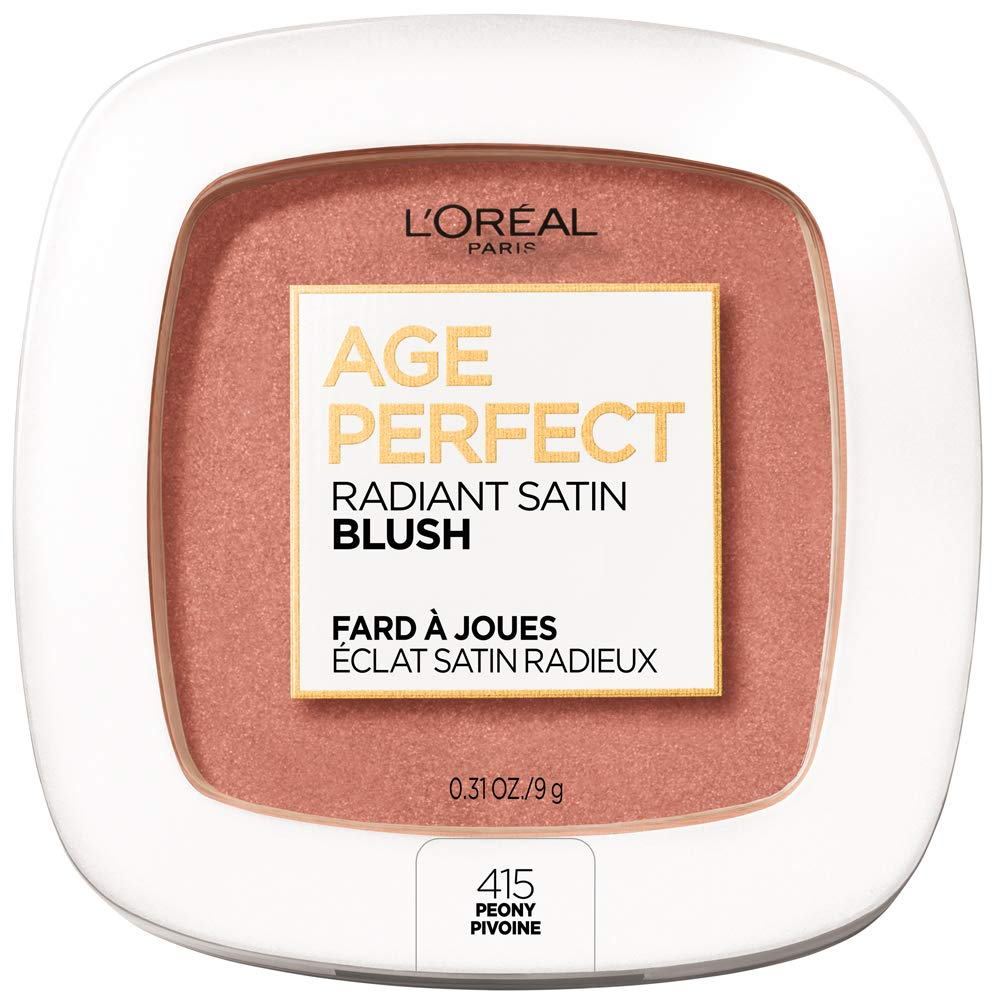 L'Oreal Paris Age Perfect Radiant Satin Blush with Camellia Oil, Peony