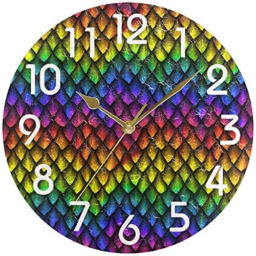 Hermoso Reloj de Pared Redondo con Forma de Flamenco en Bicicleta, Reloj de Escritorio silencioso analógico de Cuarzo con Pilas para el hogar, la Cocina, la Oficina, la Escuela, el baño