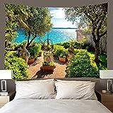 H/H Tapiz 3D Plantas En Macetas 220X240Cm Manta De Toalla De Playa De Tapices Hippies, Sábana De Playa De Picnic, Mantel, Colgante De Pared Decorativo A1455