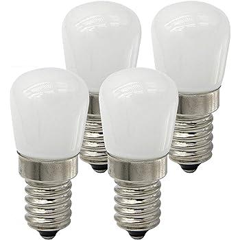 LXcom Ceramic E12 LED Refrigerator Bulb Indicator Light 2W Candelabra Base 15W Incandescent Light Equivalent 110V LED Appliance Bulb Dimmable Refrigerator Light Bulb Warm White 3000K 6 Pack