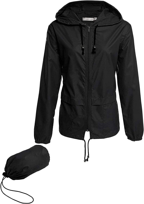Lightweight Raincoat Women Patchwork Thin Rain Jackets Hooded Zipper Sweatshirts Runing Packable Long Sleeve Tops