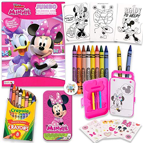Minnie Mouse 80 Page Coloring And Activity Book With 20 Activity Sheets, Minnie Stickers, Box, Markers, Crayons and Pin, By Another Dream