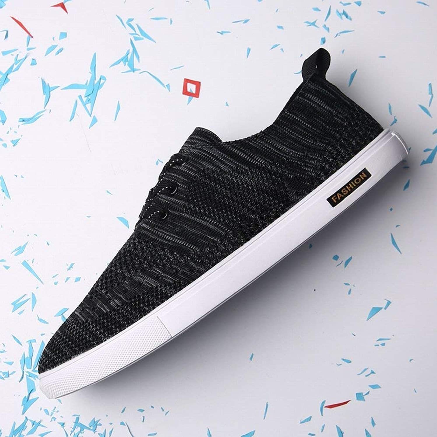 Oudan Breathable Woven All-match with bluee shoes shoes Simple fashion Simple shoes net shoes (color   Black, Size   42)