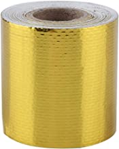 Plakbandrol 5 m * 5 cm auto tape aluminiumfolie lijm reflecterende hitteschild wrap tape verpakkingstape default goud