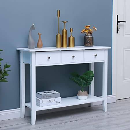 Multi-Coloured Premier Housewares Alchemy Console Table with 3-Drawers