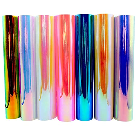 """Holographic Opal Craft Vinyl 12"""" x 12"""" 7 Sheets/Pack for Craft Cutters,Sign Plotters"""
