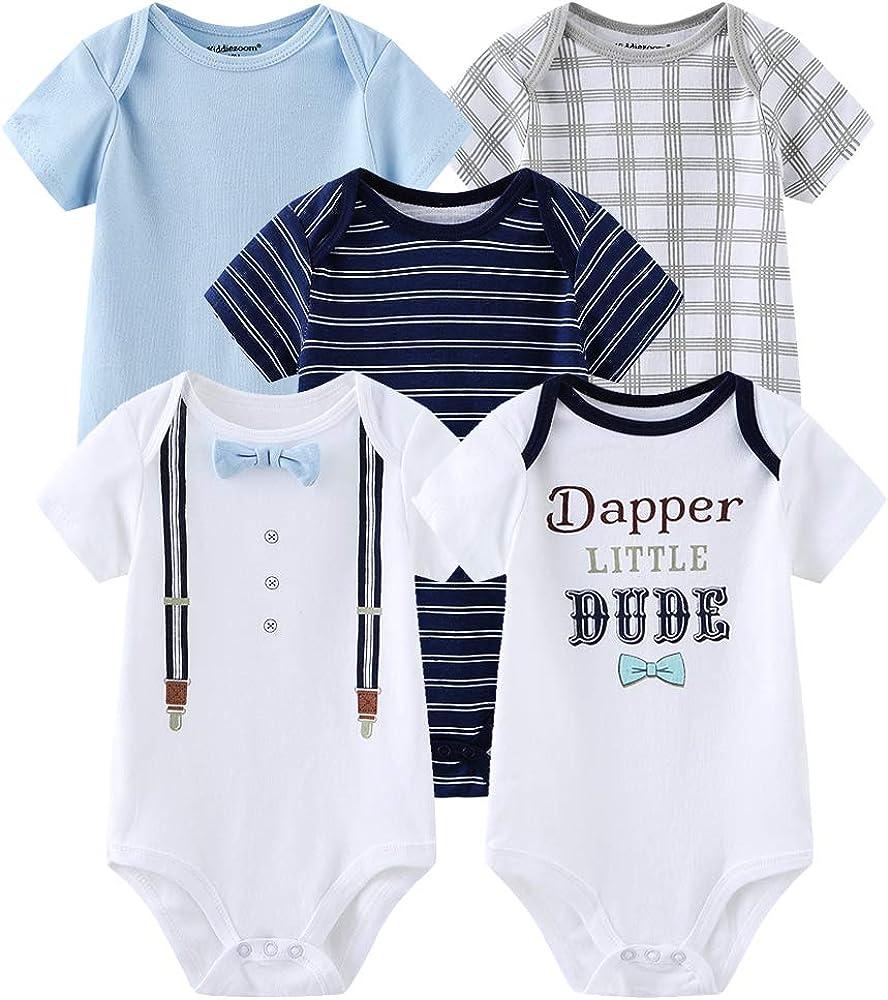 Chamie Newborn Baby Bodysuit Short Onesies Clothes Ranking TOP5 Wholesale f Sleeve