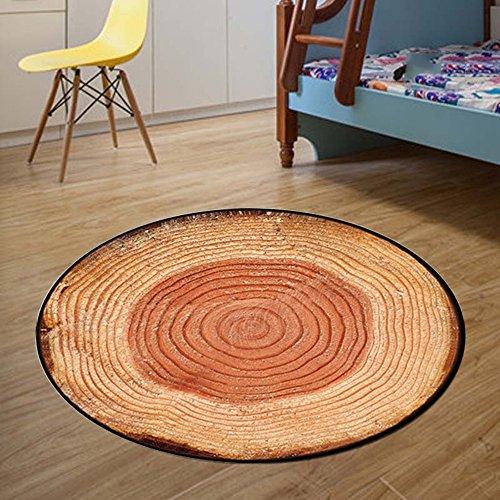 Tapis rond de bande dessinée, salon tapis de yoga, panier chaise pivotante tabouret ordinateur chaise coussin, chambre mignonne tapis (Couleur : B, taille : 100cm)