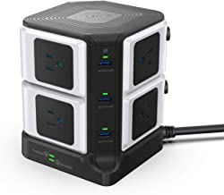 BESTEK USB Power Strip 8-Outlet Surge Protector 1500 Joules with 40W/8A 6 USB Charging Station,ETL Listed,Dorm Room Access...