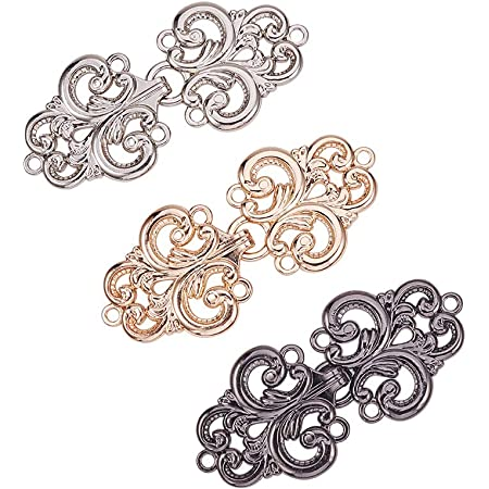 US/_5 Pairs Copper Cape Cloak Clasp Fasteners Sew On Hooks and Eyes Cardigan Clip